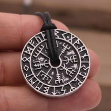 Odin martillo brújula collar talismán vikingo Elder Futhark colgante Valknut pagano amuleto Vegvisir escandinavo Norse regalo