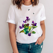 Women Graphic Style Kawaii Fashion Floral Plant Flower Casual 90s Clothes Lady Tees Print Tops Clothing Female Tshirt  T-Shirt