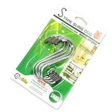 S-type Adhesive Hook Multifunctional Stainless Steel Traceless Adhesive Hook/portable Hook/metal Adhesive Hook 4 Packs cs 12 24 in s hook s hook not include pot