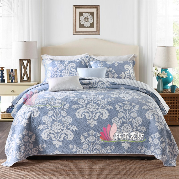 And Yan Textile Three-piece Bedding Set Bedding Article Washing Pure Cotton Summer Blanket Quilted Bedding
