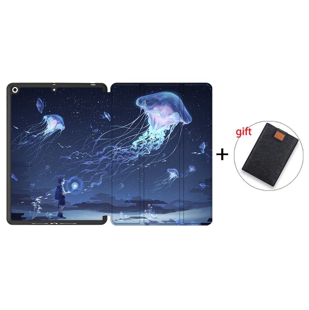 IPTPU12 Gold MTT Case For iPad 10 2 inch 7th 8th Generation 2020 Soft TPU PU Leather Flip