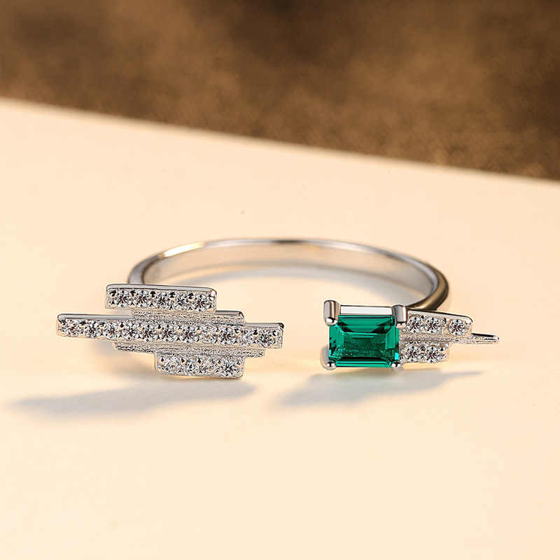 S925 เงินสเตอร์ลิงแหวนหญิงรุ่นโคลอมเบีย Cuilan เครื่องประดับหยกมรกตนิ้วมือส่งแฟนคริสต์มาสของขวัญ