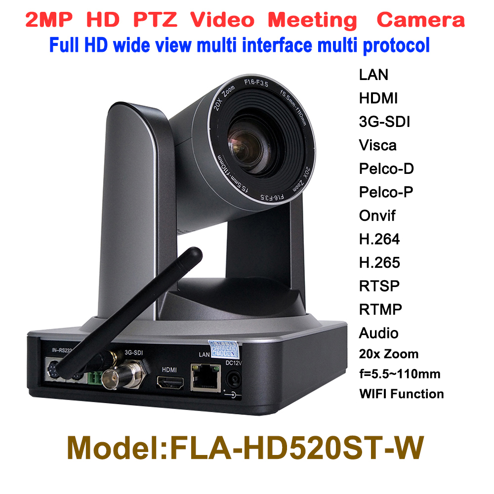 1080p 20X zoom équipement de conférence sans fil audio vidéoconférence HD1080P réunion de vidéoconférence médicale