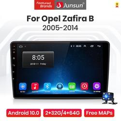 Junsun V1 Pro 4G Android 10.0 4G+64G Car Radio Multimedia Player For Opel Zafira B 2005 - 2014 GPS Navigation no 2din dvd