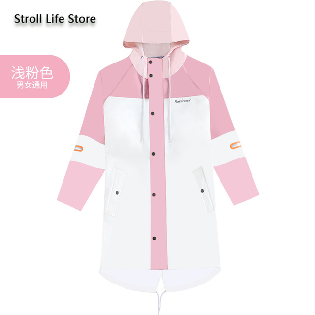 Waterproof Long Rain Coat Women Pink Trench Raincoat Long Outdoor Jacket Cover Rain Poncho Hiking Adult Gabardina Mujer Gift 5