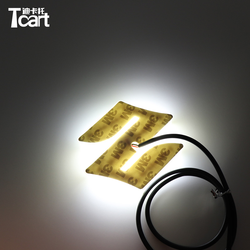 Tcart 1set 8.05x7.98cm Car Styling 4D front Badge Logo Light for Suzuki SWIFT Alto Jimny Rear LED Emblem Logo Light image