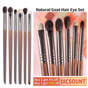 Ultra Soft Goat Hair Eye Makeup Brushes 6 Pcs Set 1