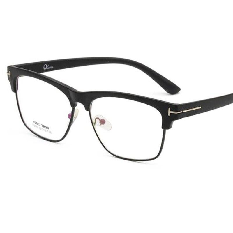 Gafas cuadradas Vintage para miopía, lentes simples de Metal, transparentes, de medio Marco, 2021