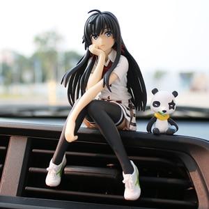 Image 4 - יפן סגנון רכב קישוטי יפה יפה בנות רכב פנים בקרת בית שולחן קישוט צלמיות & מיניאטורות קריקטורה ילדה