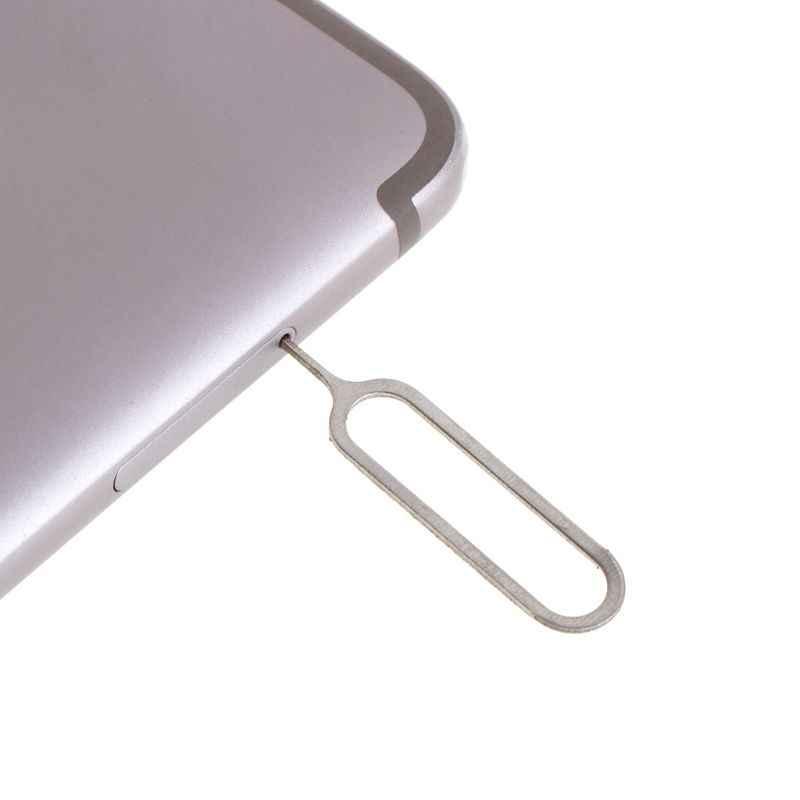 10 Buah Kartu SIM Eject Pin Alat Kunci Ejetor Pin untuk Huawei P8 Lite iPhone X 7 Plus 8 S Xiaomi Redmi Note 2 3 4X Samsung Galaxy A5