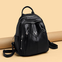 2019 Vintage Leather Backpack Women Backpack Leisure Lady V Shoulder Bags School Bags for Teenage Girls Travel Backpacks Mochila female fashion leather student backpack women bags preppy style leisure backpacks girls school bags lady zipper shoulder bags