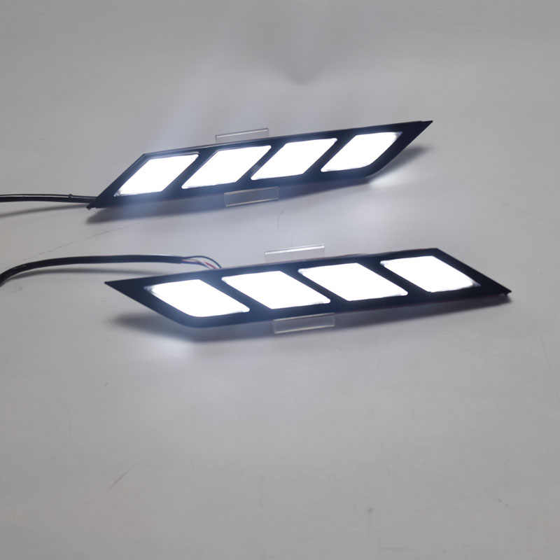 2pcs LED DRL For Toyota Avalon 2018 2019 LED Daytime Running Lights with Flowing Yellow Turn Signal Lamp Fog lamp Driving Lights