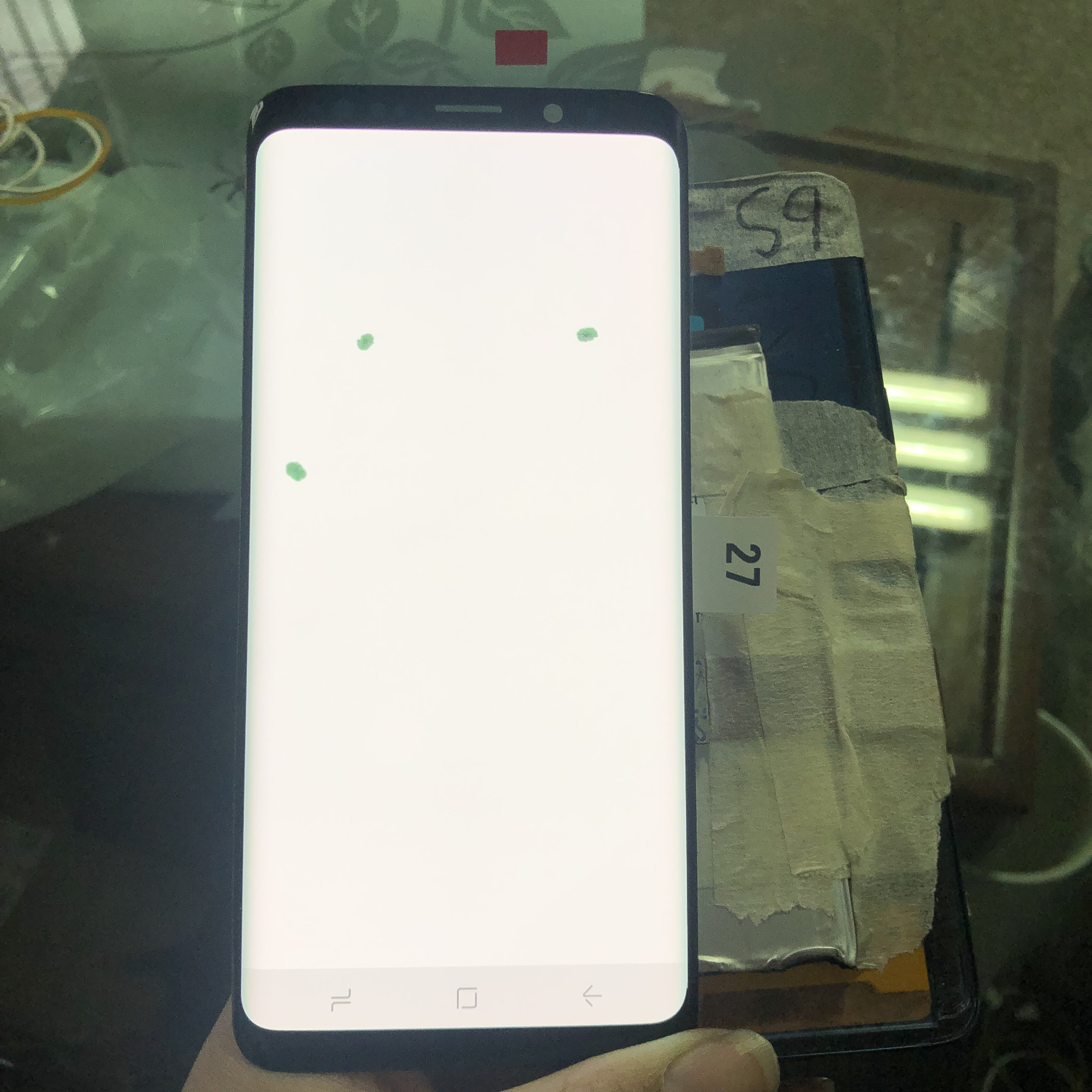 5.8 inch LCD For <font><b>samsung</b></font> galaxy <font><b>S9</b></font> G960 G960F LCD Display + Touch <font><b>Screen</b></font> Digitizer with many spots Original Assembly Replacement image