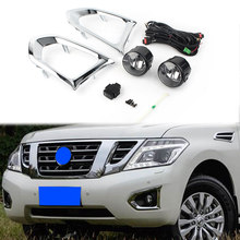 Car Front Fog Light Driving Lights Lamp Assembly w/ Wire For Nissan Patrol Y62 2016 2017 2018(China)