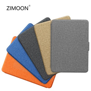 For All-New Kindle 2019 Case Cloth Texture PU Leather Smart Case PC Back Hard Cover for All-New Kindle 10th J9G29R 2019 Released