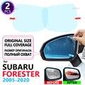 Полноэкранная противотуманная пленка для зеркала заднего вида для Subaru Forester 2005 ~ 2020 SG SH SJ SK 2008 2012 2013 2015 2018 2019, автомобильные аксессуары