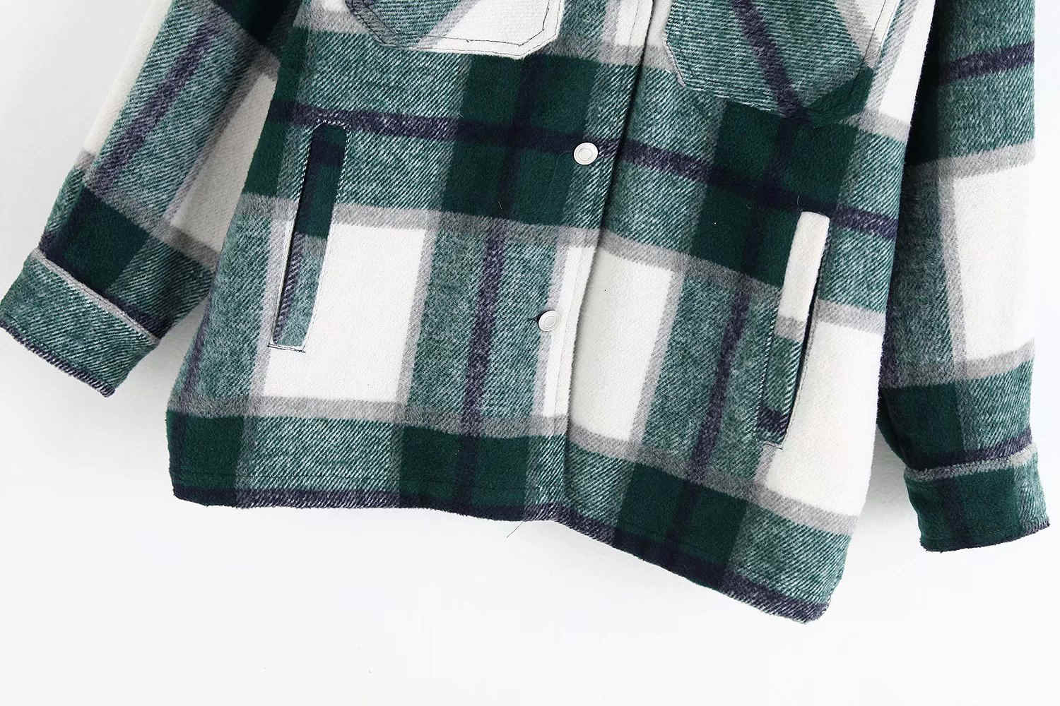 Hab42fc0c21d2449799a23beda10a30b7m Vintage Stylish Pockets Oversized Plaid Jacket Coat Women 2019 Fashion Lapel Collar Long Sleeve Loose Outerwear Chic Tops