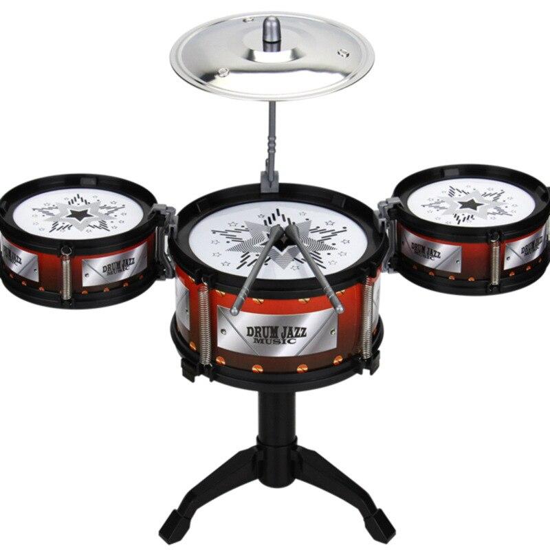 [Grams Salinas] CHILDREN'S Jazz Drum Kit Toy Music Early Childhood ENLIGHTEN Model Jazz Drum For Practicing Beat Music
