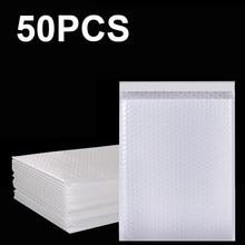 50 Pçs/lote Espuma Branca Sacos Auto Selar Utentes Acolchoado Envelopes de Envio Envelope Com Bolha Mailing Saco Pacotes de Saco de Transporte