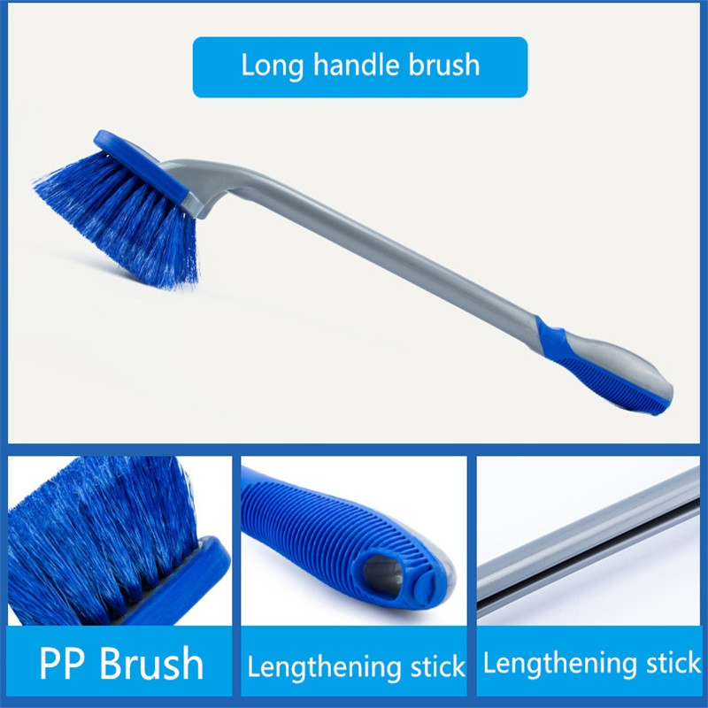 3Pcs/set Car Wash wheel Hub Brush Long Handle Car Tire Cleaning Brush 4