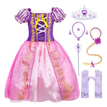 AmzBarley Girls Rapunzel Dresses Fancy Childrens Festival Clothing Cosplay Princess Birthday Party Halloween Costume Clothes