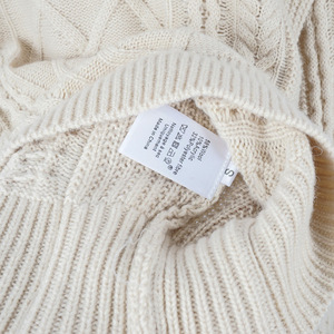 Image 5 - High Quality Wool Blend Vintage Style French Style Contour Coarse Knitted Sweater Jumper Pullover   Ladies Yellow/Beige Knit Top