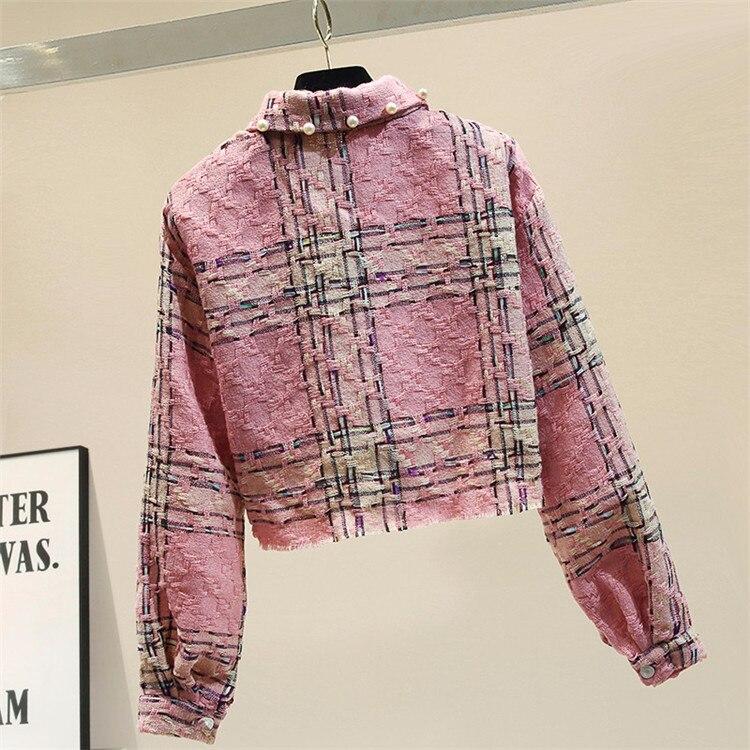 Cordón elegante chaqueta corta de manga larga de las mujeres suelto modis chaqueta mujer 2019 otoño nueva llegada veste femme - 2
