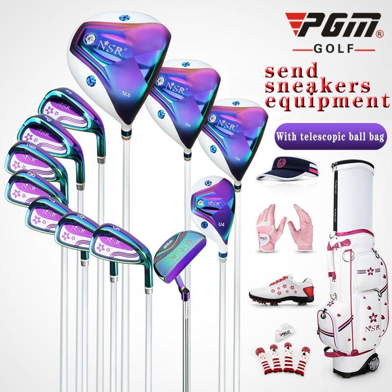 Fers de Golf pgm pour femmes Ms Club Kit de queue complet pour adultes clubs 12 pièces/ensemble de clubs pour femmes + bois de parcours + fers + putter + sac de balle