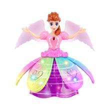 Электрический танцующий женский ослепительный маленькая принцесса Робот Детская игрушка музыка пение HD качество звука ABS материал