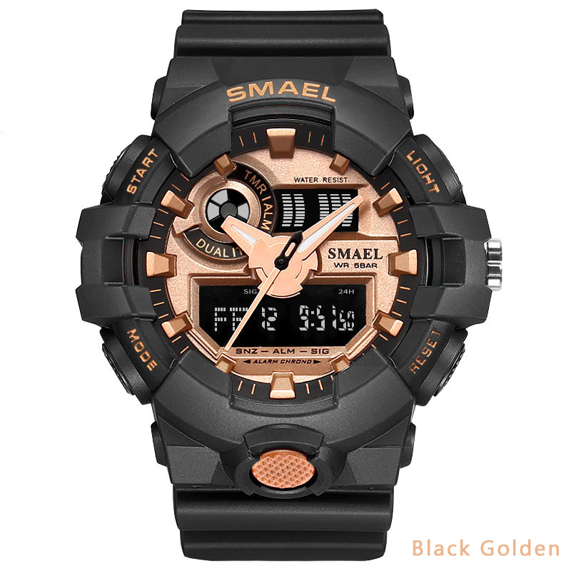 Smael Military <font><b>Watches</b></font> Men Luxury Replica <font><b>Watches</b></font> Fashion Sports <font><b>Watch</b></font> Dual Display Quartz Mens <font><b>Watches</b></font> relogios masculino image