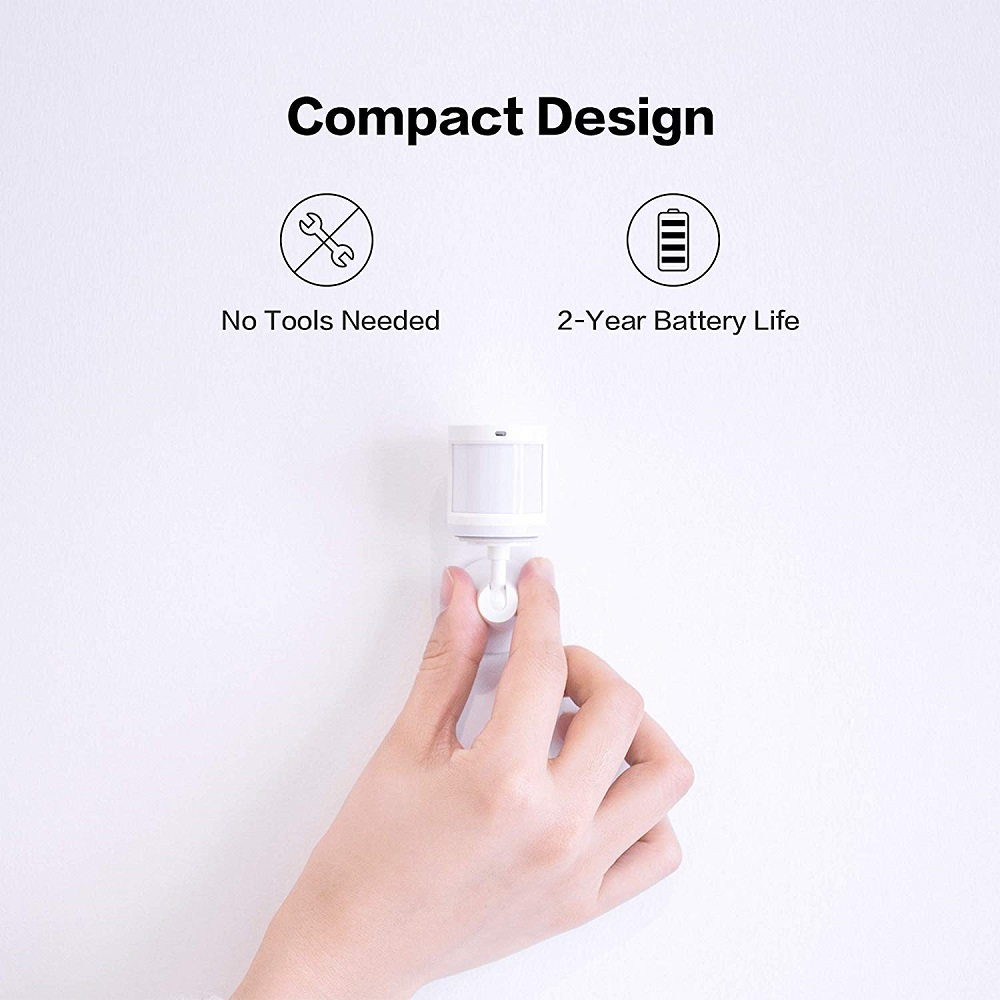 Xiaomi Aqara Motion Sensor, Zigbee Connection, for Alarm System and Smart Home Automation, Compatible with Apple HomeKit, Alexa
