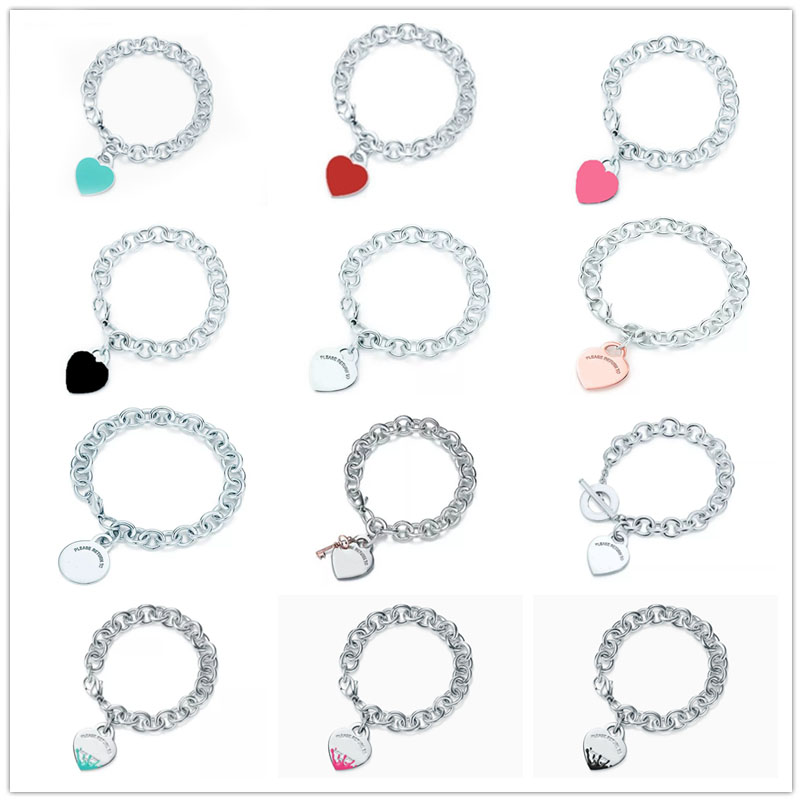 1: 1 Sterling Silver 925 Classic Popular Fashion New Ladies Ladies Bracelet Jewelry Holiday Gift