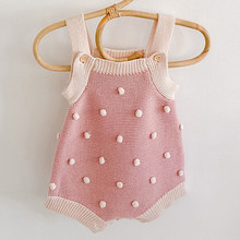 Baby Boys Girls Rompers Baby Clothes New 2020 Spring Autumn Knit Rompers Infant Boys Girls Vest Triangle Rompers