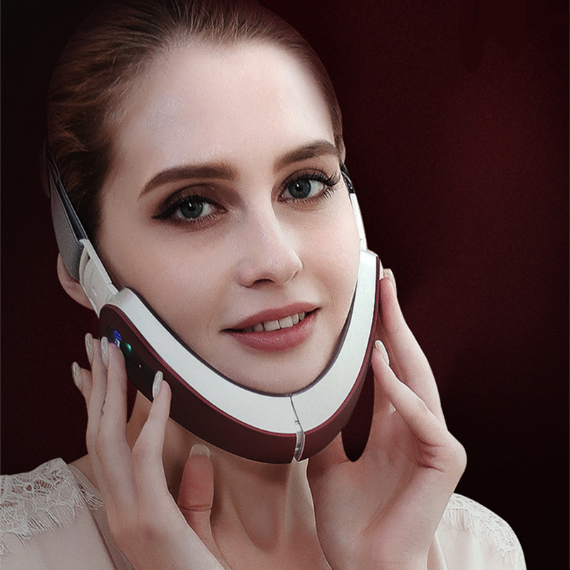 Купить с кэшбэком Face Lifting Massager Small V Face Thinner Magnetotherapy Cosmetology Instrument Household Skin Rejuvenation Massage Tens