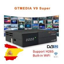 Beste 1080P DVB-S2 GTmedia V9 Super Satellite TV Empfänger Gleichen GTmedia Unterstützung Spanien Portugal Ccam V8 Nova Freesat V9 super