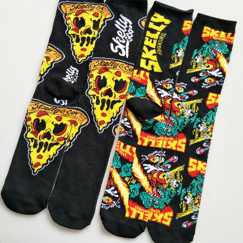Cartoon Skelly Selest Sock Socks Anime Knee-High Warm Stitching Pattern Antiskid Invisible Casual Autumn Spring Winter Cotton