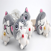 Stuffed Keychain Toys Plush-Figure-Toy Doll Gift 7CM for Wedding 4features-Cat NEW