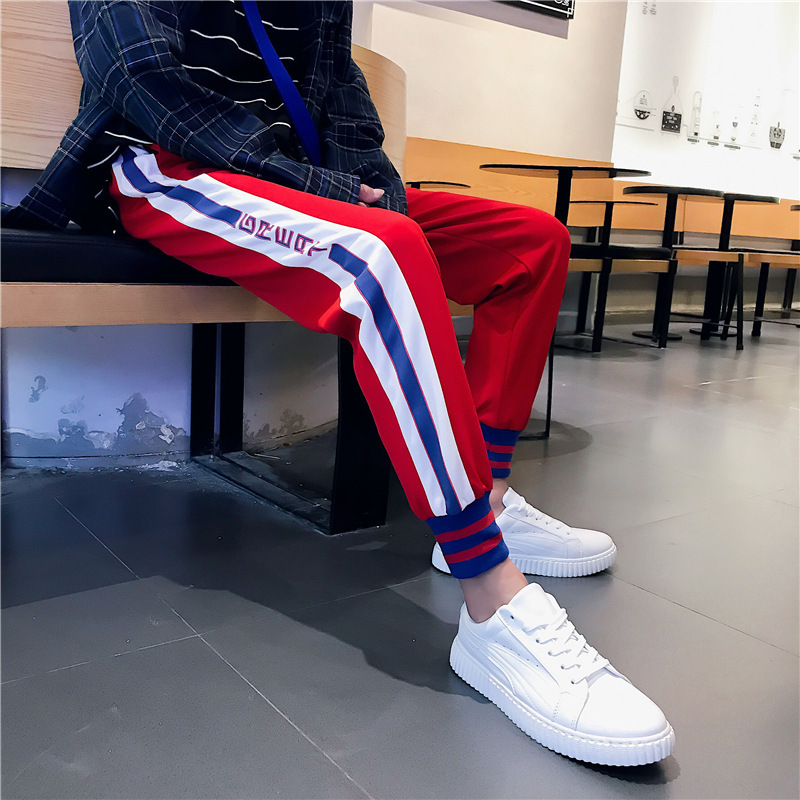 2018 Summer New Style Aberdeen Literature And Art Men's Casual Sports Pants Teenager Men And Women Students Slim Fit Pants Capri