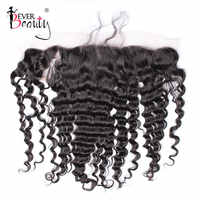 13x4 Lace Frontal Closure Pre Plucked With Baby Hair Deep Wave Ear to Ear 100% Human Hair Brazilian Free Part Ever Beuaty Remy