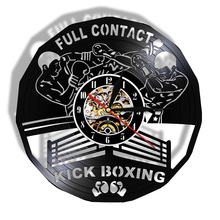 Watch Boxing-Gloves Wall-Clock Sports-Boxers Gym-Decor Gift Infighters Punching-Bag Scrappers