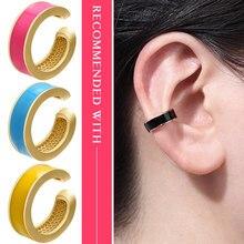 ZHUKOU 1 sztuka 2020 nowy wspaniały multicolor nausznica fałszywy piercing nausznice dla kobiet dziewczyn model:VE219