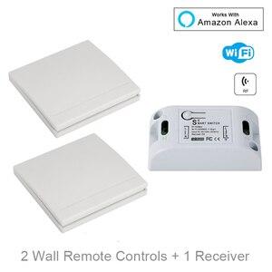 Image 1 - QIACHIP Wifi Wireless Wall Light Switch Smart Home 433Mhz RF Remote Control Receiver Led Lamp Switch Work With Amazon Alexa DIY