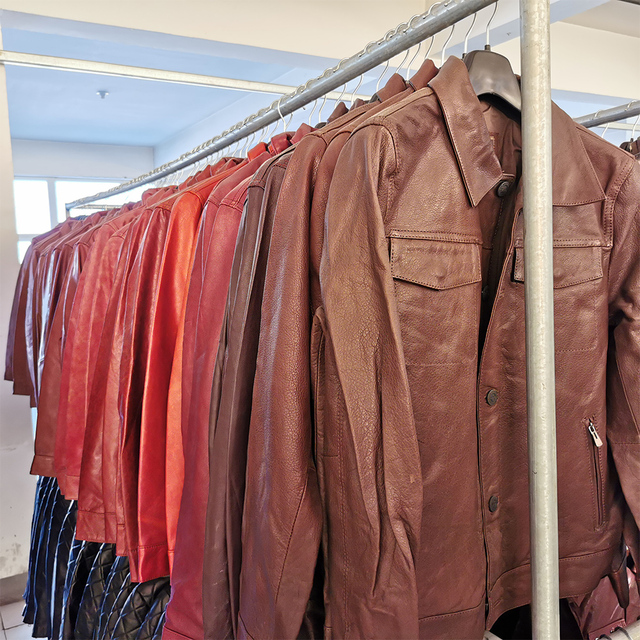SALE CLEARANCE! RANDOM Color ! Men Leather Jacket 100% Natural Cowhide or Sheepskin Leather Jacket Man Skin Coat Autumn M163 4