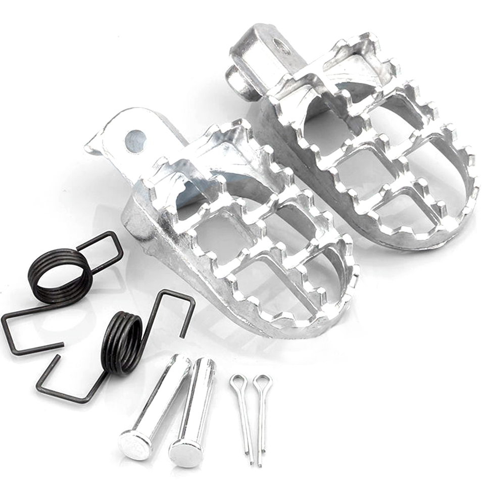 Pit Dirt Bike Aluminum Foot Pegs Footpegs For Yamaha TW200 PW50 PW80 Honda XR50R