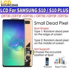 Amoled Kleine Dode Pixels Voor Samsung Galaxy S10 Lcd G973F G973FD Display S10 + Plus G975F G975FD Touch Screen Digitizer montage