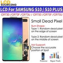 Pantalla LCD Amoled para teléfono móvil SAMSUNG MONTAJE DE digitalizador con pantalla táctil, para Galaxy S10, G973F, G973FD, S10 + Plus, G975F, G975FD
