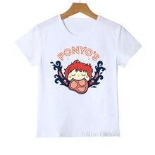 funny Ponyo cartoon print t shirt kids graphic tees girls/boys clothes