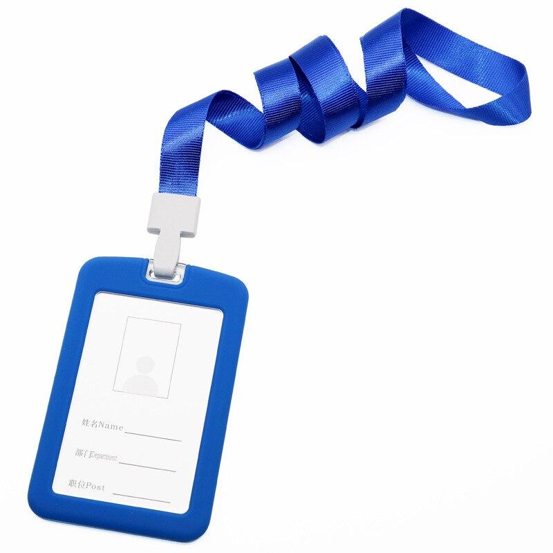 Work Card Silicone Card Set Work Permit Employee Card Badge Access Card Badge Customizable Badge Lanyard Manufacturers Direct Se