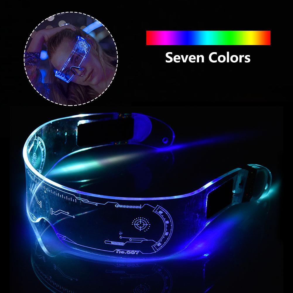 LED gafas EL alambre de fiesta luminoso gafas con luz LED a lentes Rave traje fiesta gafas de DJ de Halloween decoración de Halloween
