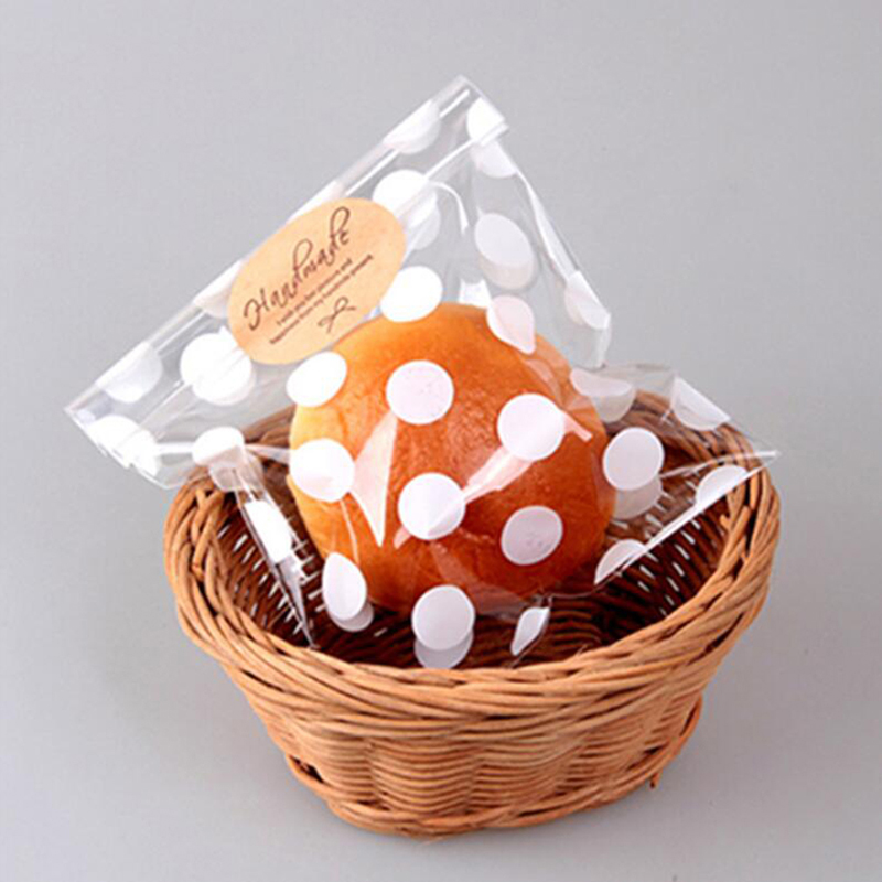 100PCS Cute Cookie Candy Gift Bags Flat Cellophane Treat Bag For Candy Biscuits Snack Baking Package Event Party Supplies